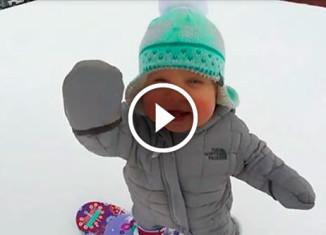 Маленькая сноубордистка