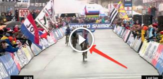 Велогонщик рано обрадовался победе