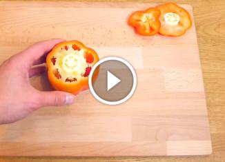 Как быстро почистить перец