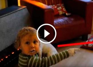 Малыш нашел крем