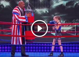 Девочка боксер