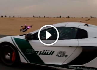 Drone Vs McLaren race