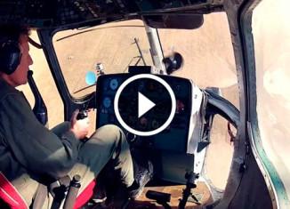 Экстремальный полет на вертолете