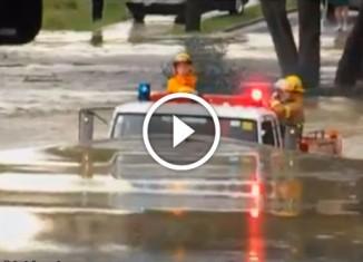 Пожарные и потоп