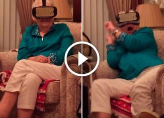 Бабушка и 3Д очки