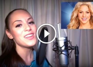 Девушка имитирует голоса знаменитостей