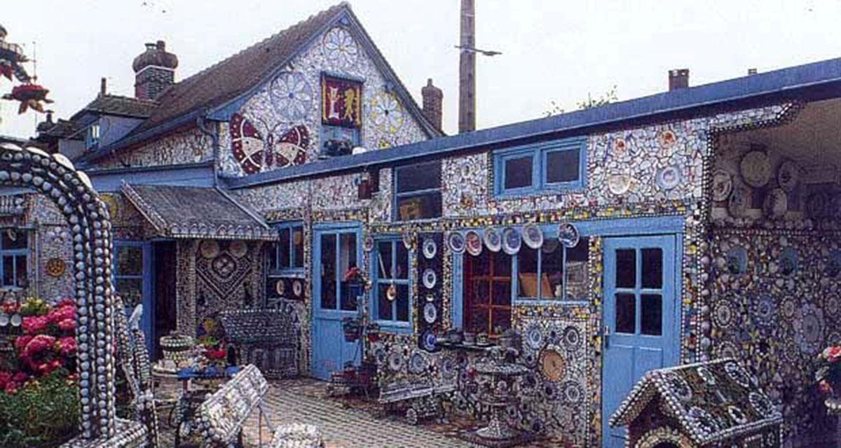Дом Разбитой Посуды, настоящий шедевр, созданный из осколков
